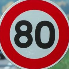 Limitation de vitesse – 80 km/h